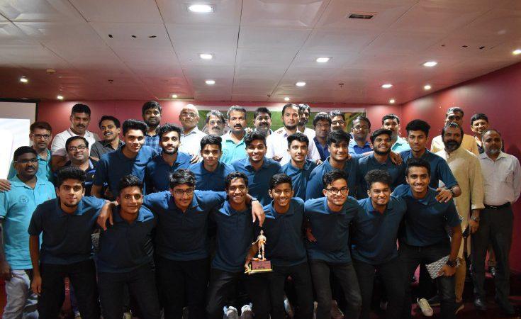 ഇന്റർനാഷണൽ ഇന്ത്യൻ സ്കൂൾ ഫുടബോൾ ടീമിന് സ്വീകരണം നൽകി